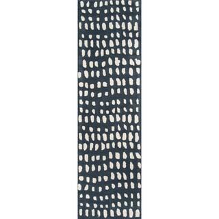 "Novogratz by Momeni Delmar Dots Wool Hand Tufted Runner - 2'3"" x 8'"