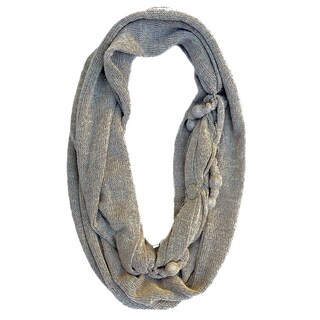 Solid Infinity Scarf with Touch of Silver Sparkle, Soft Knitted Infinity, Necklace Scarf