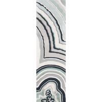 """Novogratz by Momeni Delmar Agate Blue/Ivory/Grey Wool Rug (2'3 x 8') - 2'3"""" x 8'"""