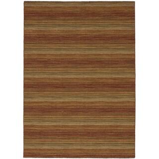 eCarpetGallery Kilim Manhattan Red/Yellow Wool Flat-woven Rug - 5'5 x 7'7