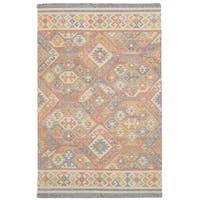 eCarpetGallery Flatweave Kozak 17109 Sumak Red Wool Rug (4'11 x 8'0)