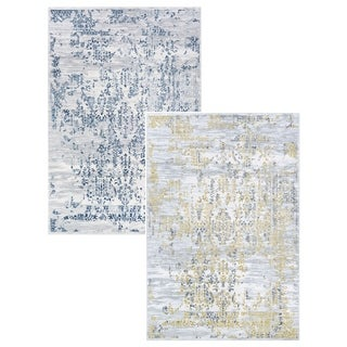 Couristan Calinda Collection Samovar Distressed-finished Fabric Blend Area Rug