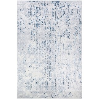 Couristan Calinda Kingsbury Steel Blue-Ivory Area Rug