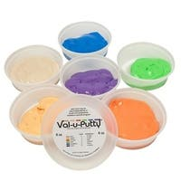 Val-u-Putty Exercise Putty, 4 Ounce, Set of 6 (1 ea: Pear through Plum)