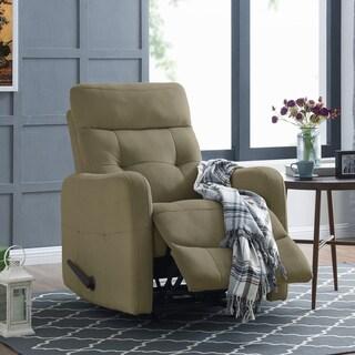 ProLounger Sage Green Velour Rocker Recliner Chair