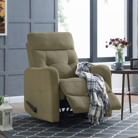 Copper Grove Pallas Sage Green Velour Rocker Recliner Chair