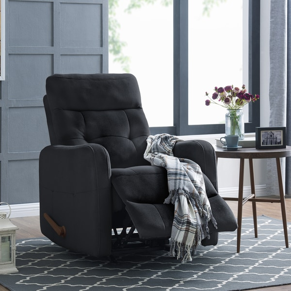 Copper Grove Pallas Navy Blue Velour Rocker Recliner Chair