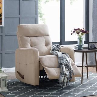 Shop Abbyson Luca Grey Floral Swivel Glider Recliner Chair