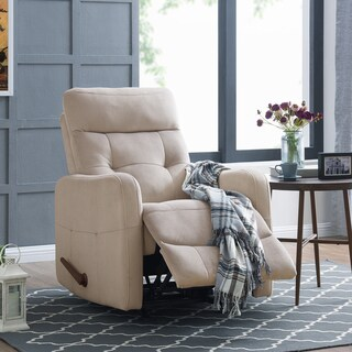 Copper Grove Pallas Rocker Platinum Grey Velour Recliner Chair