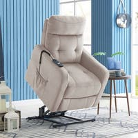 Clay Alder Home Klingle Velour Power Recline and Lift Chair