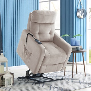Copper Grove Pallas Velour Power Recline and Lift Chair