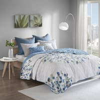 Urban Habitat Jayden Blue 7-piece Cotton Coverlet Set