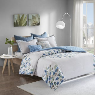 Urban Habitat Jayden Blue 7-piece Cotton Comforter Set