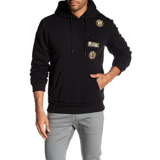 Men's Pullover Patched Hoodie