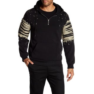 Tailored Recreation Splatter Paint Half Zip Hoodie