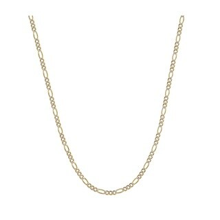 Pori Jewelers 925 Sterling Silver Super Light High Polished 4 2 MM Figaro White Pave Two Toned 120 Chain Necklace