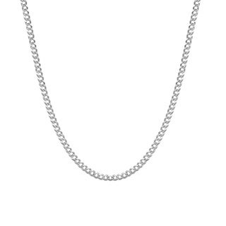 Pori Jewelers 925 Sterling Silver Super Light High Polished 6.1 MM Cuban Special Pave 160 Chain Necklace