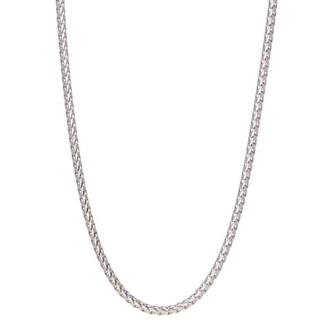 Pori Jewelers 925 Sterling Silver High Polished 2.5MM Franco 230 Chain necklace