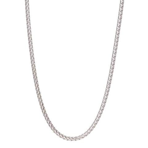 Pori Jewelers 925 Sterling Silver High Polished 2MM Franco 180 Chain necklace