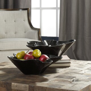 Uttermost Colson Charcoal Black Bowls (Set of 2)