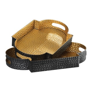 Uttermost Gatha Bronze and Gold Trays (Set of 2)