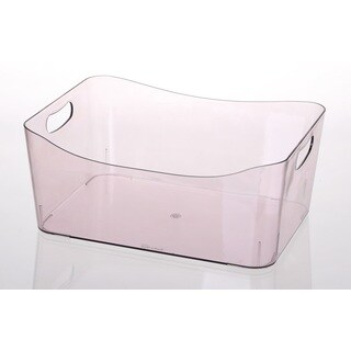 Ybmhome Open Bin Storage Basket Kitchen Pantry, Beauty Product Supply Organizer, Under Cabinet Caddy Transparent Purple
