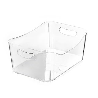 Ybmhome Open Bin Storage Basket Kitchen Pantry , Caddy Clear