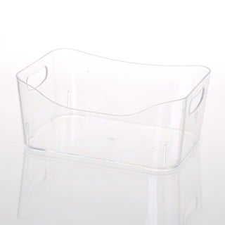 Ybmhome Open Bin Storage Basket Kitchen Pantry, Beauty Product Supply Organizer, Under Cabinet Caddy Clear