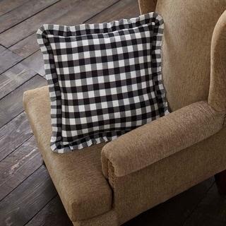 Annie Buffalo Check Ruffled Fabric Pillow 18x18