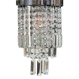"Royal Designs Mariaj Clear Crystal 1 Light Socket Chrome Finish Flush Mount Ceiling Light, 12"" Diameter"