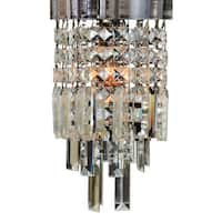"Royal Designs Mariaj Clear Crystal 1 Light Socket Chrome Finish Flush Mount Ceiling Light, 8"" Diameter"