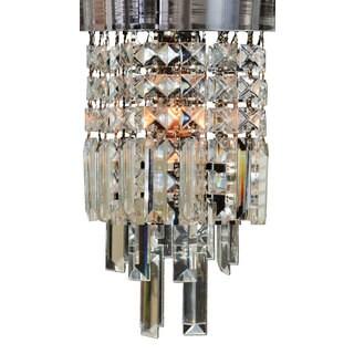 "Royal Designs Mariaj Clear Crystal 1 Light Socket Chrome Finish Flush Mount Ceiling Light, 8"" Diameter"