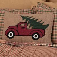 "Hooked Truck 14"" x 18"" Pillow"