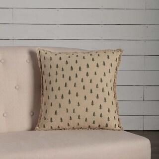 "Vintage Burlap Tree 18"" x 18"" Pillow"
