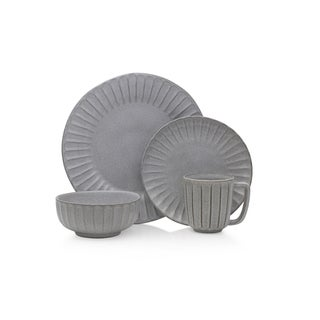 Mikasa Monterey Grey 4 Pc Stoneware Place Setting