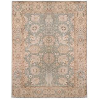 Zeigler Rust Wool Hand-knotted Designer Area Rug (9'8 x 12'6)