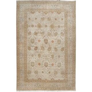Zeigler Beige/Rust/Taupe Wool Hand-knotted Designer Rug (9'8 x 14'5)