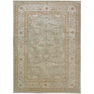 Wool and Silk Tabriz Rug (9'10'' x 13'11'') - 9'10'' x 13'11''