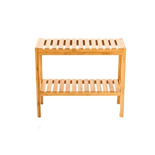 New Ridge Home Natural Bamboo Shoe Rack Bench