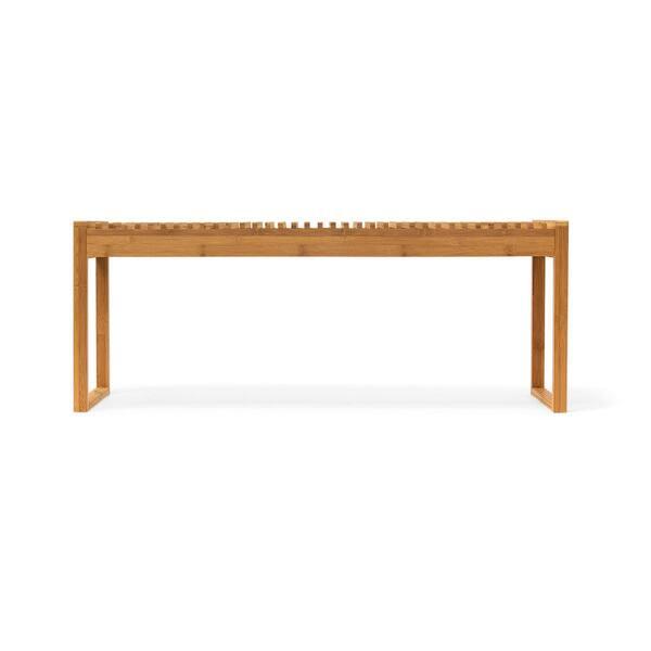 Fantastic Shop Newridge Home Natural Bamboo Entryway Seat Bench On Machost Co Dining Chair Design Ideas Machostcouk