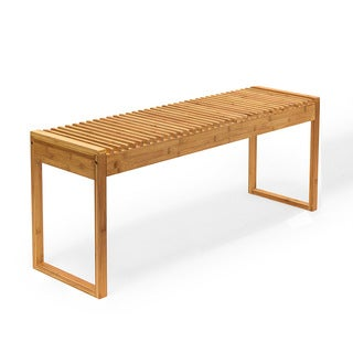 NewRidge Home Natural Bamboo Entryway Seat, Bench