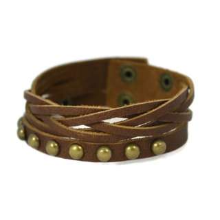 "Weave Leather Cuff Essential Oil Bracelet Unisex- 7-8"""