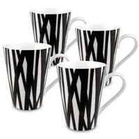 Konitz Set of 4 Black and White Rhythm Mugs