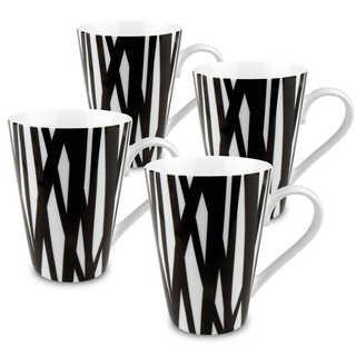Konitz Set of 4 Black and White Rhythm Mugs