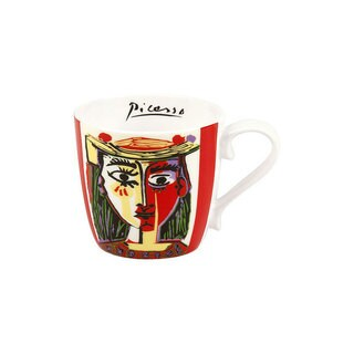 Konitz Set of 5 Assorted Picasso Bone China Mugs