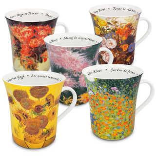 Kontiz Set of 5 Assorted Le Fleur Chez Les Paintres Mugs