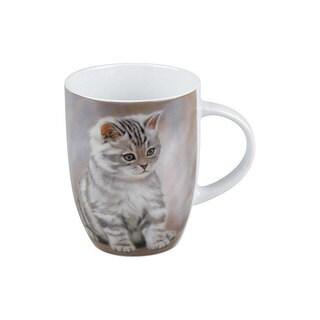 Konitz Set of 4 Tiger Striped Kitten Mugs
