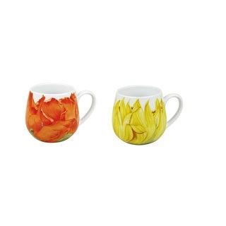 Konitz Set of 4 Assorted Sunflower and Corn Poppy Snuggle Mugs