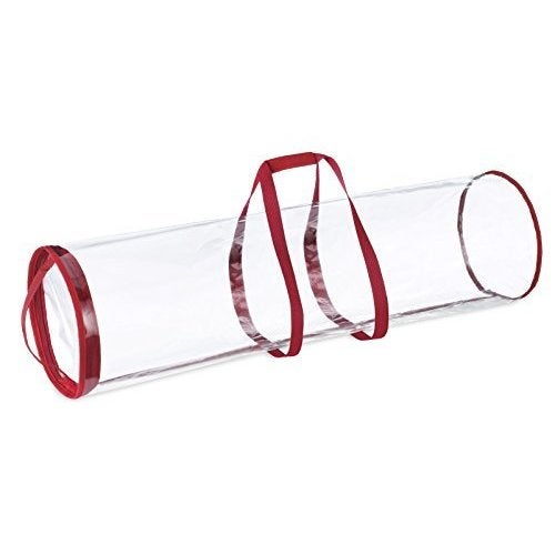 whitmor clear gift wrap tube wrapping paper tube bag for storing multiple rolls of gift