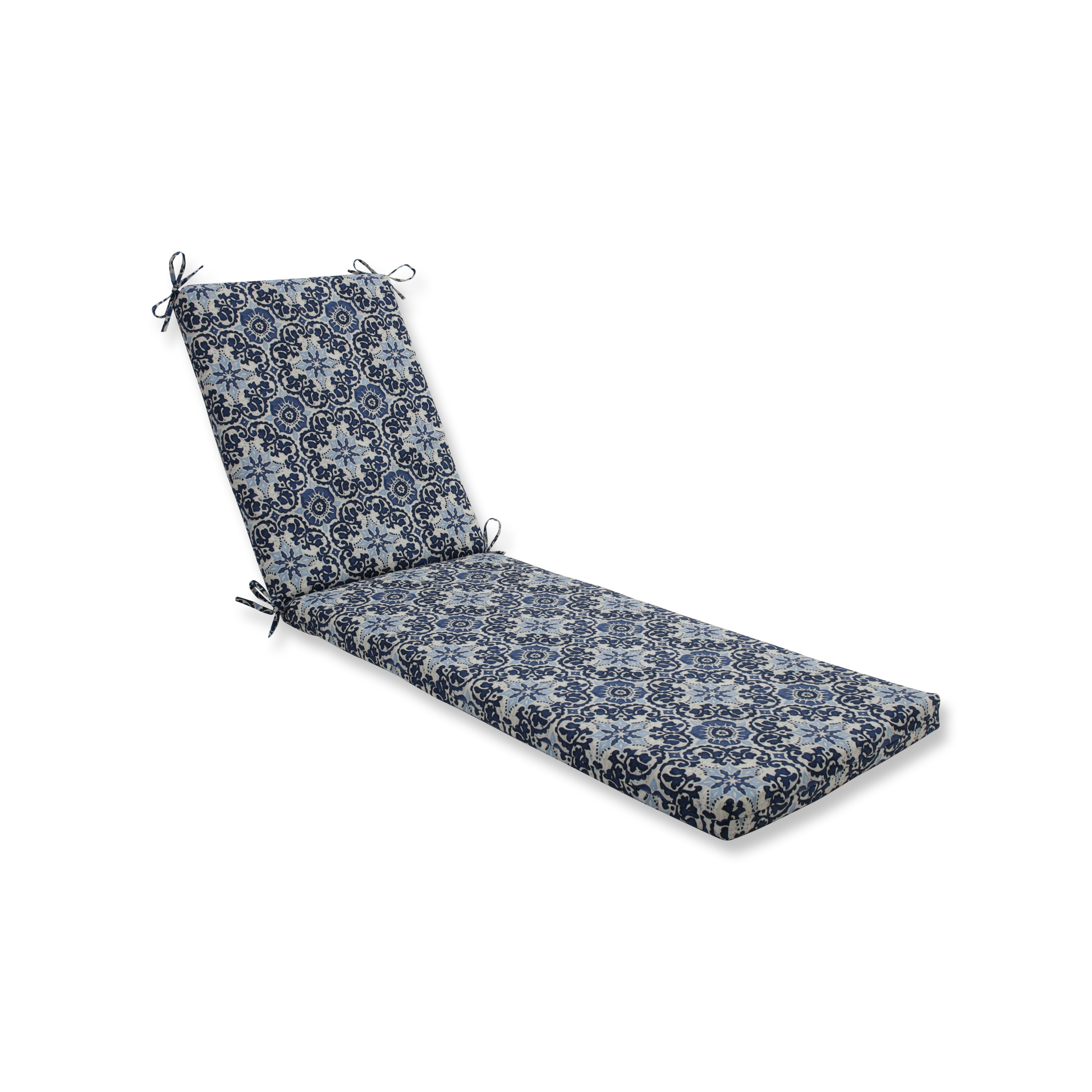 Pillow Perfect Outdoor/Indoor Woodblock Prism Blue Chaise...